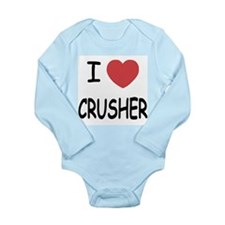 I heart CRUSHER Long Sleeve Infant Bodysuit