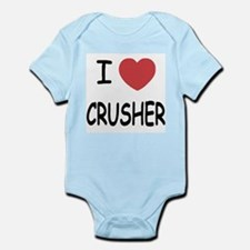 I heart CRUSHER Infant Bodysuit