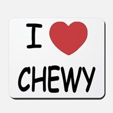 I heart CHEWY Mousepad