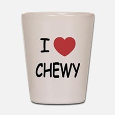 I heart CHEWY Shot Glass