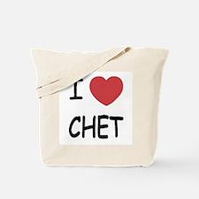I heart CHET Tote Bag