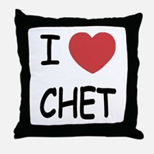 I heart CHET Throw Pillow