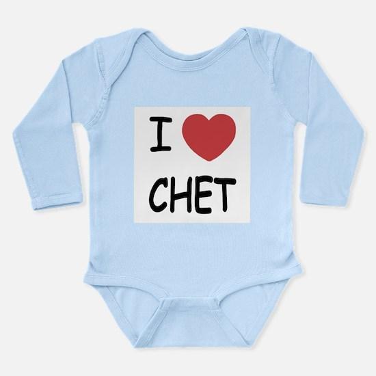 I heart CHET Long Sleeve Infant Bodysuit