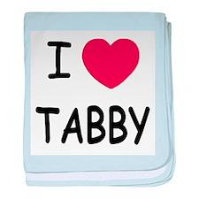 I heart TABBY baby blanket