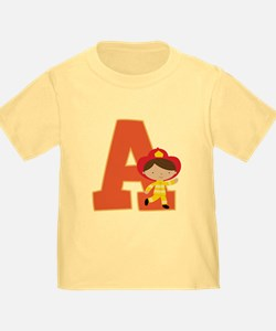 Letter A Firefighter Monogram T