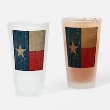 Vintage Texas Flag Drinking Glass