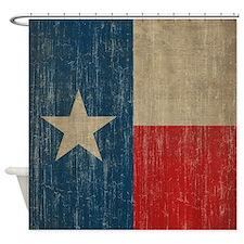 Vintage Texas Flag Shower Curtain