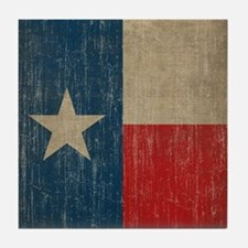 Vintage Texas Flag Tile Coaster