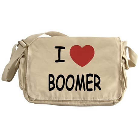 I heart BOOMER Messenger Bag