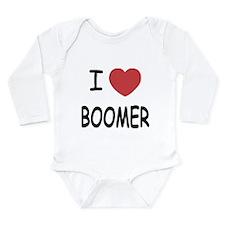 I heart BOOMER Long Sleeve Infant Bodysuit