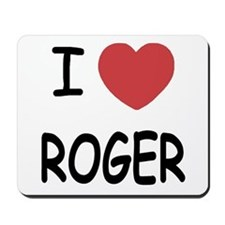 I heart ROGER Mousepad