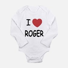 I heart ROGER Long Sleeve Infant Bodysuit