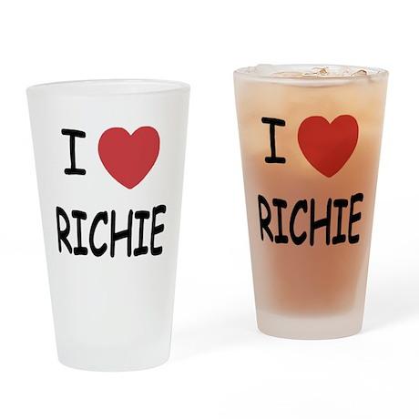 I heart RICHIE Drinking Glass