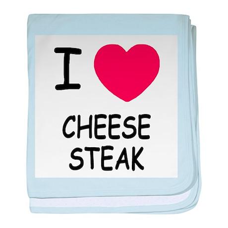 I heart cheesesteak baby blanket