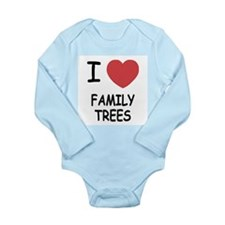 I heart family trees Long Sleeve Infant Bodysuit