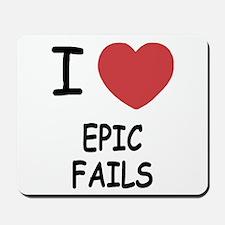 I heart epic fails Mousepad