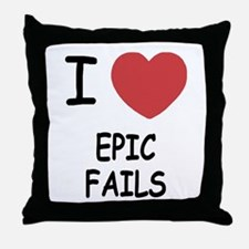 I heart epic fails Throw Pillow
