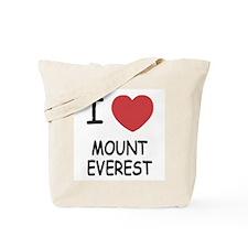I heart mount everest Tote Bag