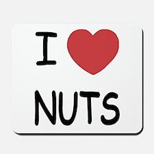 I heart nuts Mousepad