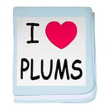 I heart plums baby blanket