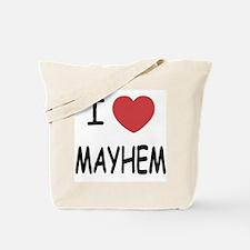 I heart mayhem Tote Bag