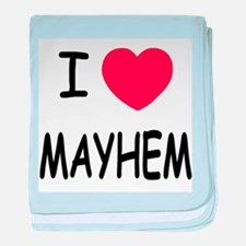 I heart mayhem baby blanket