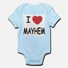 I heart mayhem Infant Bodysuit
