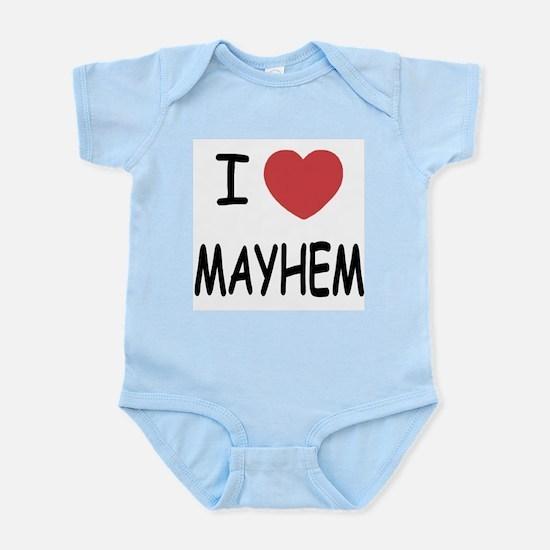 I heart mayhem Infant Bodysuit