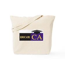 Educate California Tote Bag