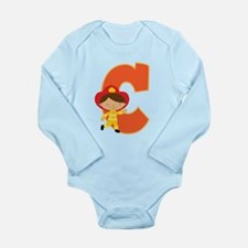 Letter C Firefighter Monogram Long Sleeve Infant B