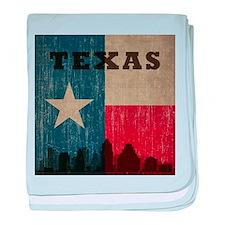 Vintage Texas Skyline baby blanket