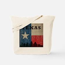 Vintage Texas Skyline Tote Bag