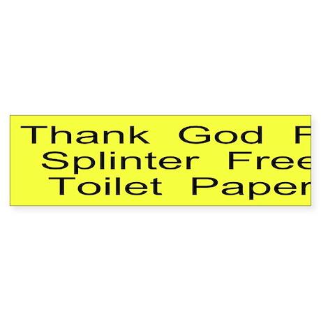 Splinter Free T P Custom Sticker (Bumper)