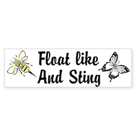 Float like and Sting Custom Sticker (Bumper)
