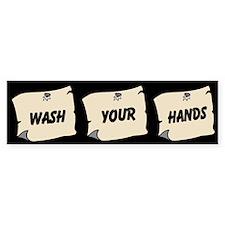 Wash Your Hands Custom Bumper Sticker