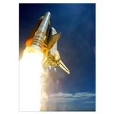 Nasa shuttle launch Framed Prints