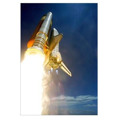 Shuttle mission STS-121 launch, July 2006 Framed Print