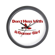 Dont Mess With A Gamer Girl Wall Clock