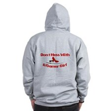 Dont Mess With A Gamer Girl Zip Hoodie