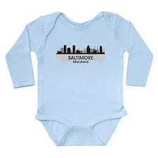Baltimore Maryland Long Sleeve Infant Bodysuit