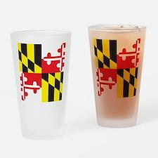 Maryland Flag Drinking Glass