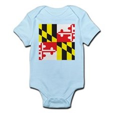 Maryland Flag Infant Bodysuit