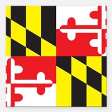 "Maryland Flag Square Car Magnet 3"" x 3"""