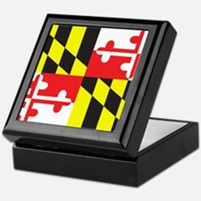 Maryland Flag Keepsake Box