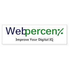 WebPercent Bumper Bumper Sticker