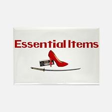 Essential Items: Gamer Girl Rectangle Magnet