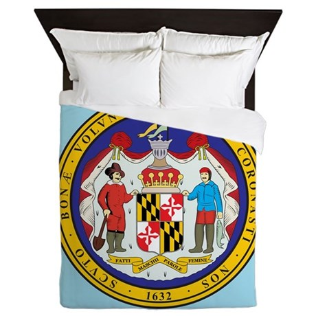 Maryland State Seal Queen Duvet