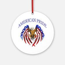 American Pride Eagle Ornament (Round)
