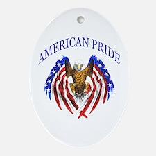 American Pride Eagle Ornament (Oval)