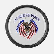 American Pride Eagle Large Wall Clock